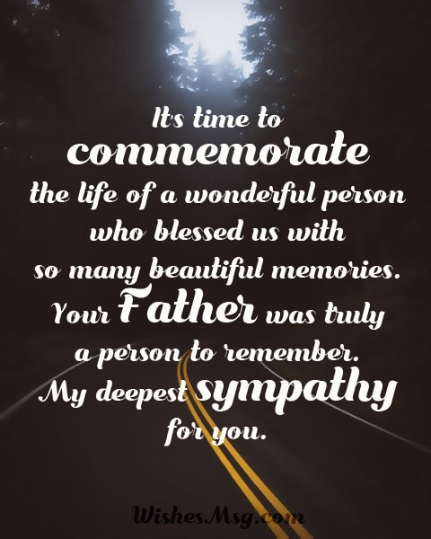 Condolence Messages On Death Of Father - Sympathy Quotes - WishesMsg