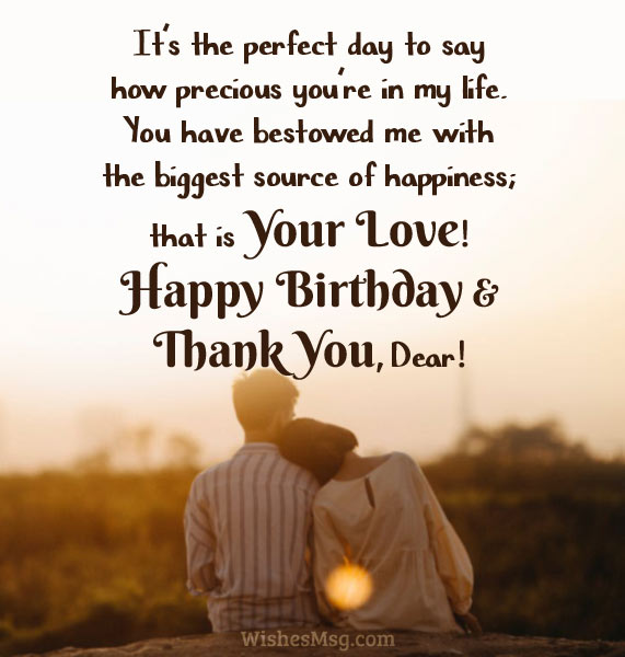 Thank You Messages For Husband - Romantic  Sweet - WishesMsg
