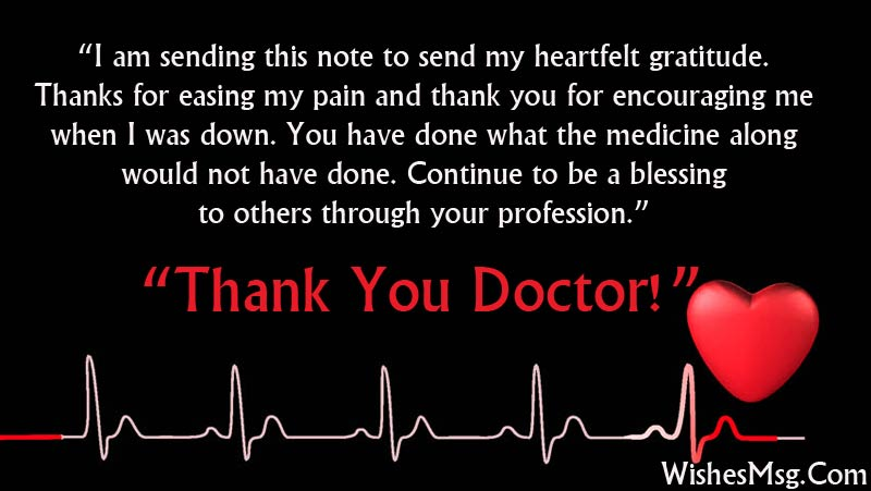 Thank You Messages For Doctor - Appreciation Notes - WishesMsg - thank you letter to doctor