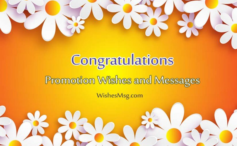 Job Promotion Wishes - Congratulation Messages For Promotion - WishesMsg