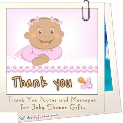 Sample Thank You Notes and Messages for Baby Shower Gifts - baby shower thank you notes