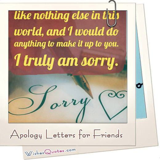Forgive Me Sample Apology Letters to a Good Friend - how to make an apology letter