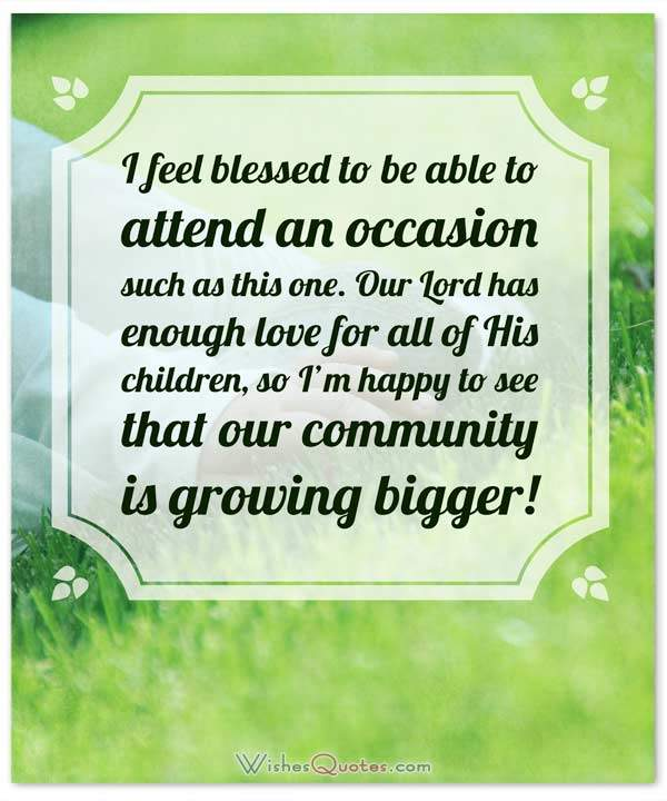Christening Messages and Baptism Card Wishes \u2013 WishesQuotes