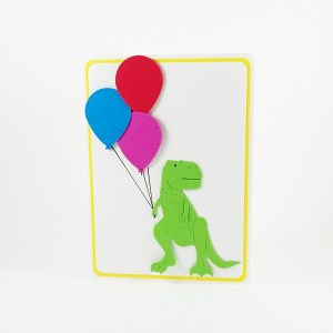 Fun handmade dinosaur birthday card