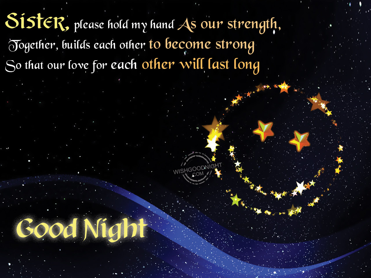 Sweet Wallpaper With Quotes Good Night Wishes For Sister Good Night Pictures
