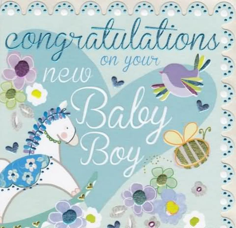 congrats for a new baby boy - Selol-ink