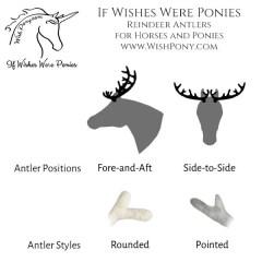Wishpony Reindeer Antlers for Horses Ponies Custom Options