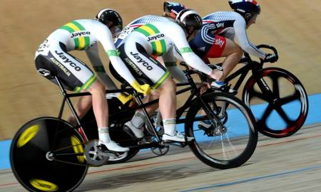 Jessica Gallagher (AUS) World Champion Para Cycling Sprint Tandem