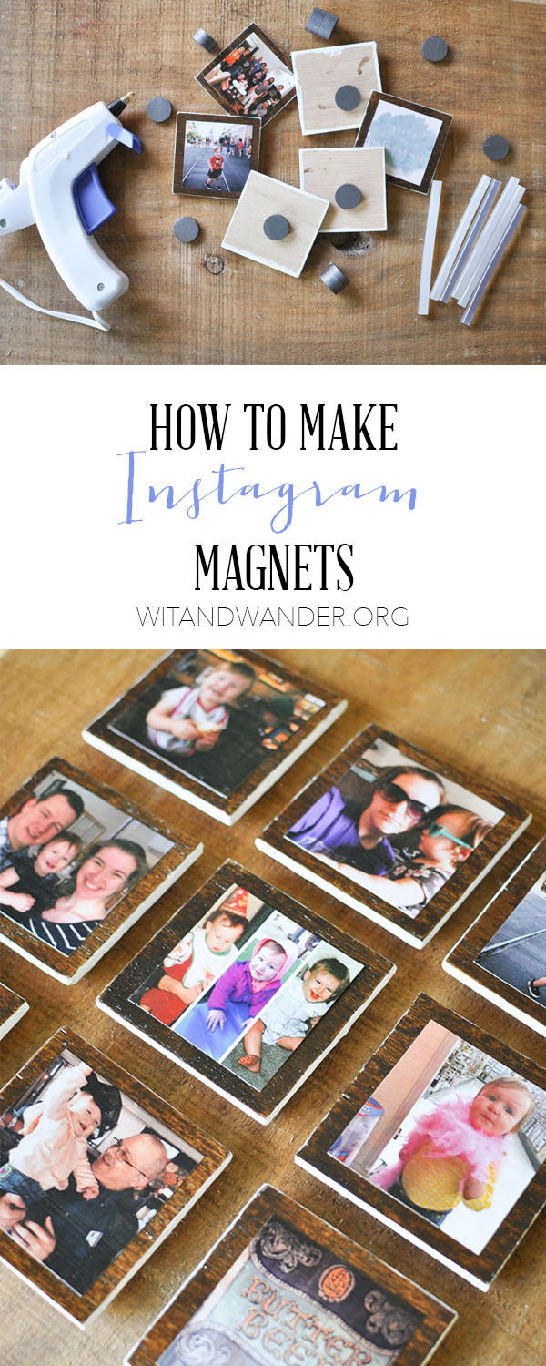 DIY Instagram Magnets--- Such a great way to display all your favorite photos.