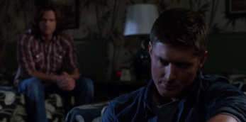 Dean brooding with Sam trying to explain his feelings