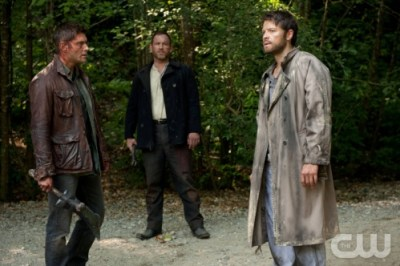 Dean, Benny, and Cas in purgatory