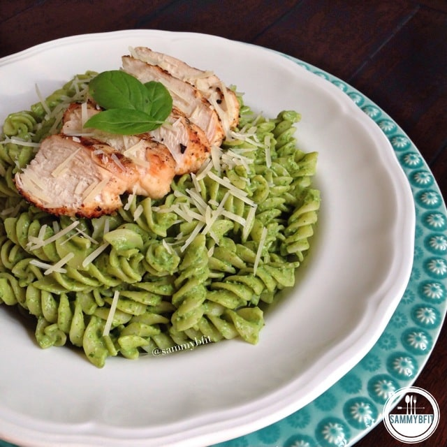 Chicken Avocado Pesto Pasta