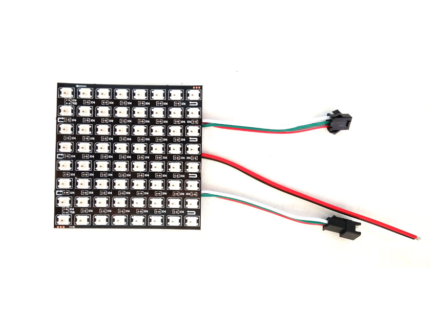 arduino rgb led matrix circuit