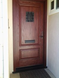 Fiberglass Front Entry Door with Mail Slot