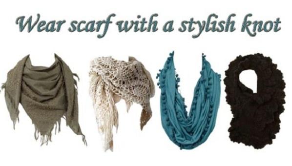 Impressive ways of scarf tying