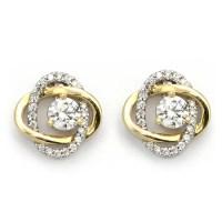 Diamond Stud Earring Jackets - Yellow Gold Swirl   Wixon ...