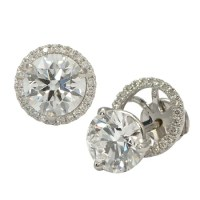 Halo Earring Jackets for Diamond Studs   Wixon Jewelers