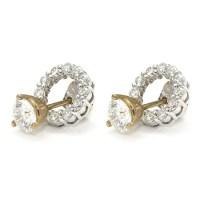 Diamond Stud Earring Jackets - Halo   Wixon Jewelers