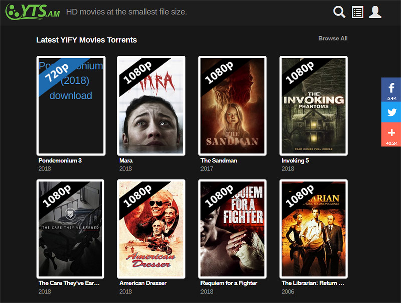 YIFY torrent movies