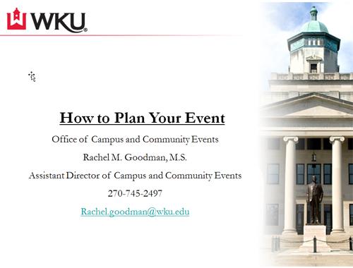 Event Planning Western Kentucky University