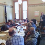 State Representative Douglas Gutwein explains the confusion regarding the CAGIT tax to the council and commissioners.