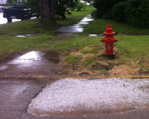 A new hydrant was also added at the corner of Delaware and Pearl Streets