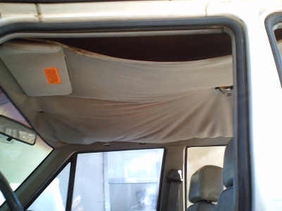 Headliner installation and repair in 1994 Jeep Cherokee Sport, the