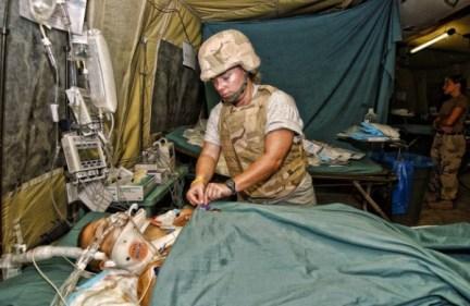 Brian Kolfage receiving Purple Heart Medal 9-11-2004 Iraq