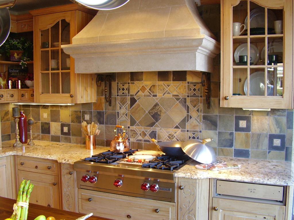 kitchen tile kitchen tile backsplash Custom Cut Slate Mosaic Tile st louis kitchen tile Backsplash Backsplash 3