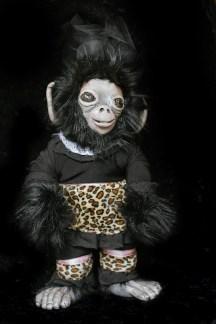Dark Monkey Doll