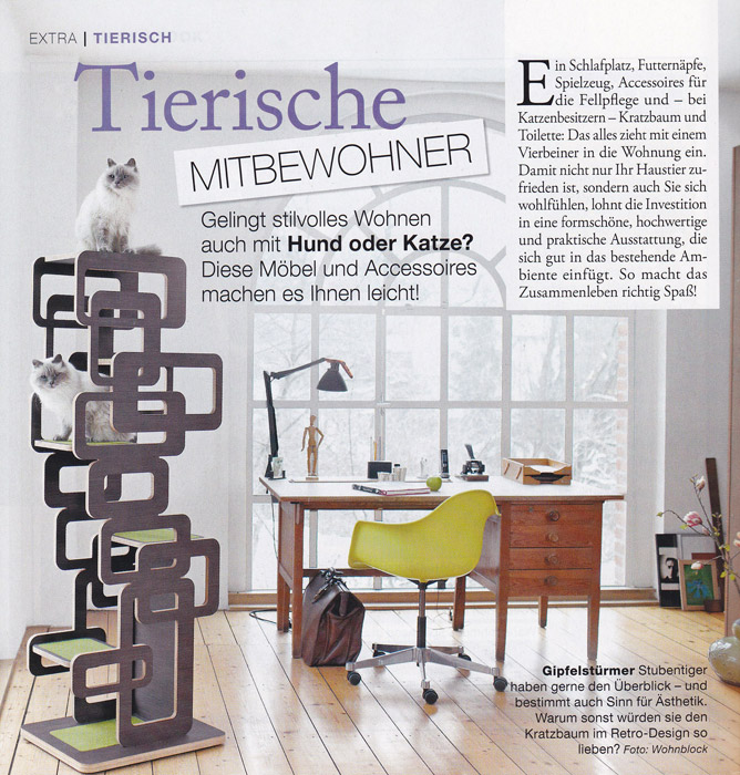 Press Design scratching post - Exclusive cat furniture Wohnblock - designer mobel katzenbesitzer