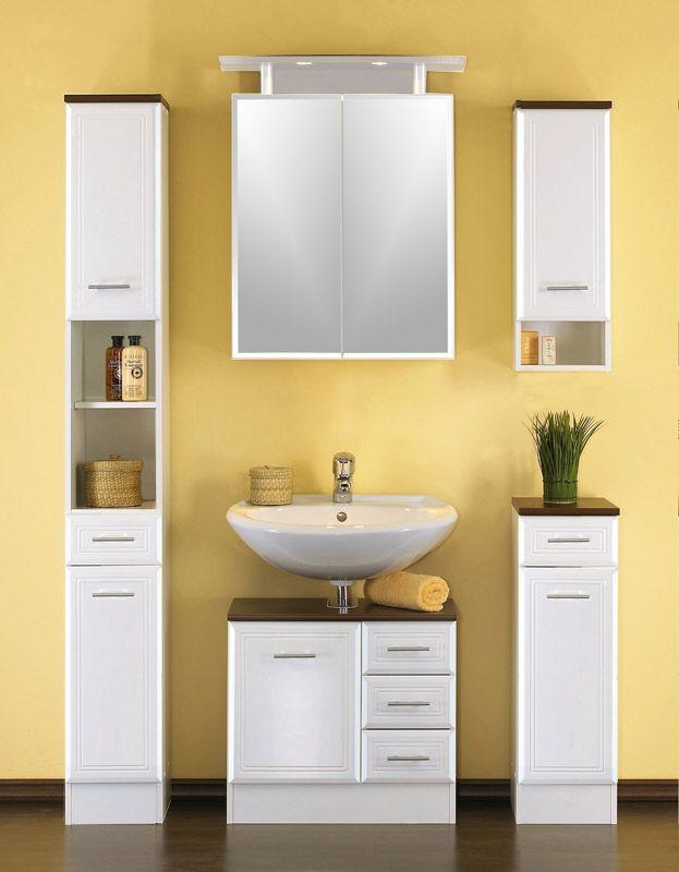 Badezimmereinrichtung Nina in Weiß im Landhausstil - badezimmereinrichtung