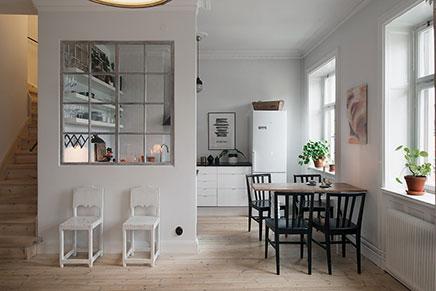 Niedliche Küche Von Kleine Loft Aus Stockholm Wohnideen Einrichten    Halboffene Kuchen