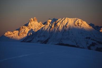 Blick auf die Bischofsmütze, einer der wohl bekanntesten Gipfel des Dachsteinmassivs.