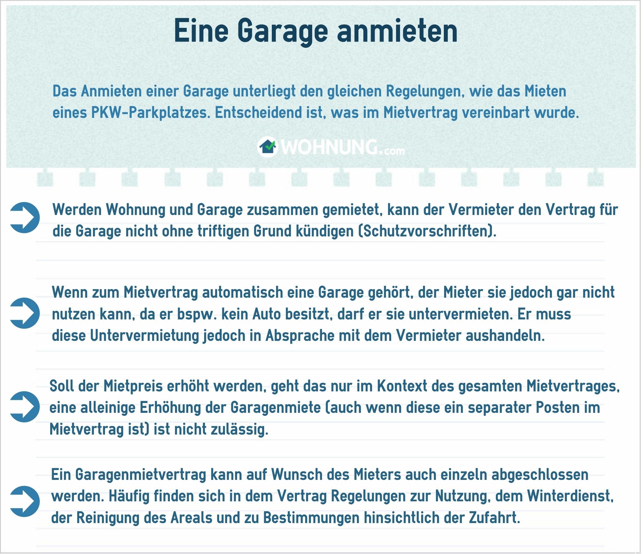 Garagen & Parkpltze: Rechtliche Grundlage fr Mieter und