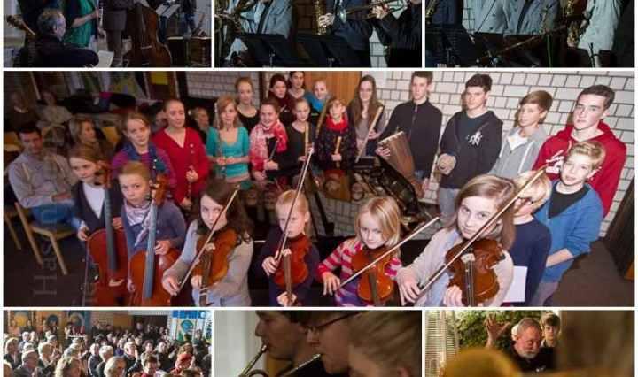 Collage mit Fotos von Konzerten und anderen Events mi tBeteiligung der Musikschule Wolbeck. Foto: A. Hasenkamp, Fotograf in Münster.