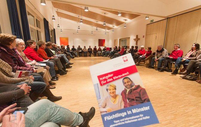Treffen des Arbeitskreises Flüchtlinge in Südost im Pfarrheim St. Nikolaus in Münster-Wolbeck. Foto: anh.