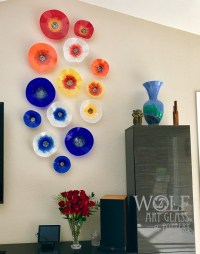 Blown Glass Wall Art Sculptures, Flowers, & Rondels at ...