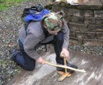Workshop Participant demonstrating excellent bowdrill form