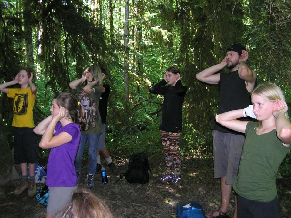 """Practicing """"Deer Ears"""""""