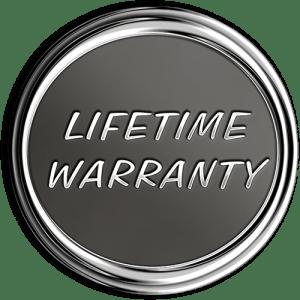 Lifetime Warranty Chrome Medallion