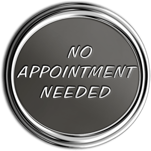 No Appointment Needed Chrome Medallion