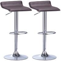 Bar Stools set of 2 Swivel Kitchen Breakfast Stools Chair ...