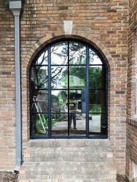 Custom Exterior Steel Door & Arched Windows - Womack Iron