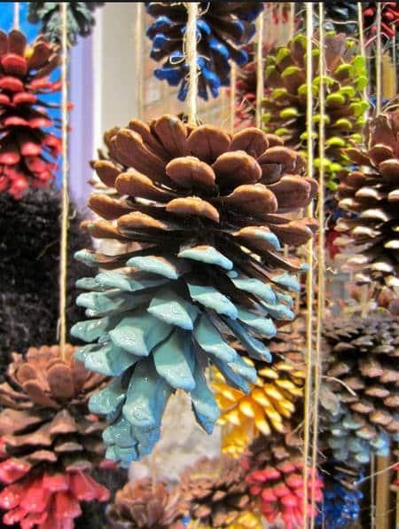 2013 christmas colorful pinecone crafts christmas pinecone crafts idea 2013 christmas pine cone orna-f71828