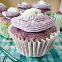 Ube Chiffon Cupcakes