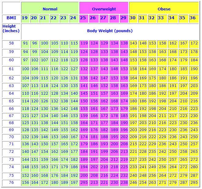 Normal Weight - Body Mass Index - Women Health Info Blog - 33 bmi
