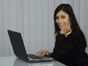 Indian woman at the office