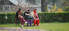 Indian women in park