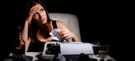 woman with writer's block